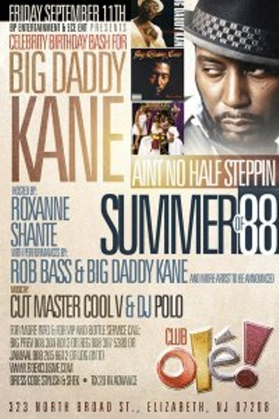 Big Daddy Kane's Birthday Party in NJ
