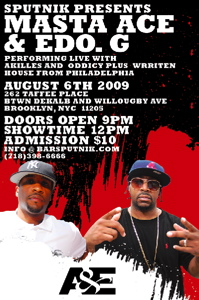 Masta Ace + Ed O.G., Live in Brooklyn, NY