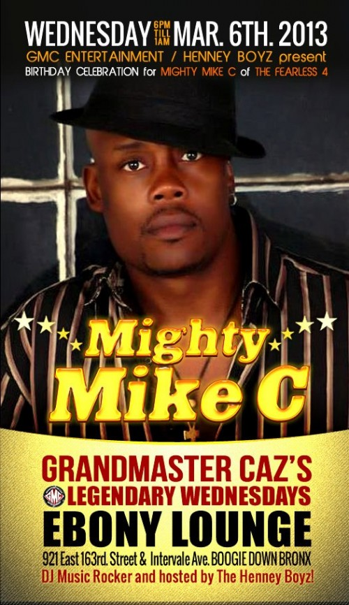 Grandmaster Caz's Legendary Wednesdays feat. Mighty Mike C