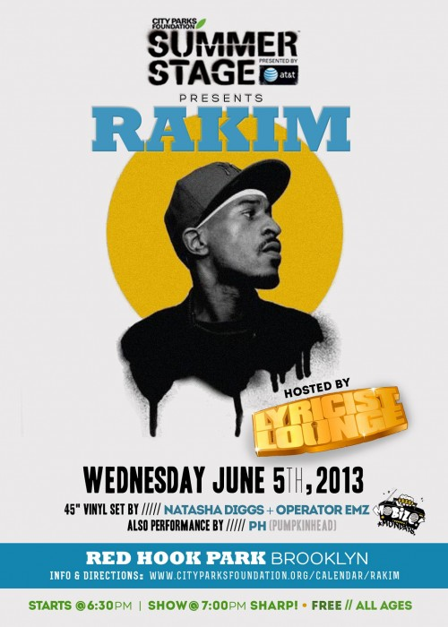 Rakim @ Red Hook Park
