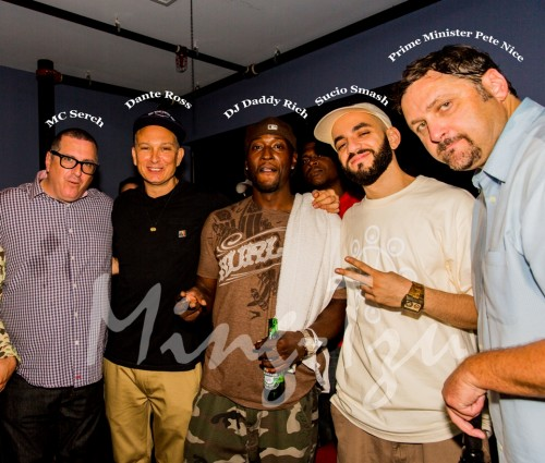 MC Serch, Dante Ross, DJ Daddy Rich, Sucio Smash and Prime Minister Pete Nice
