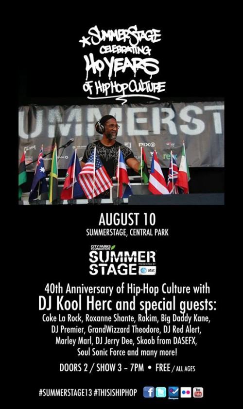 40th Anniversary of Hip-Hop Culture feat. DJ Kool Herc and Friends